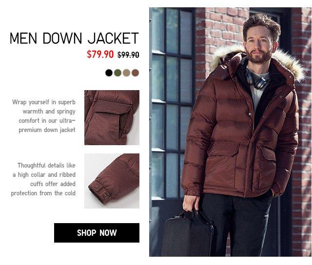MEN DOWN JACKET $79.90 - shop now