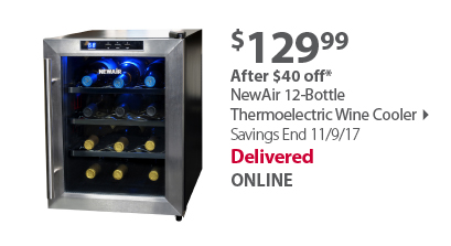 NewAir 12-Bottle Thermoelectric Wine Cooler