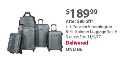 U.S. Traveler Bloomington 5-Pc. Spinner Luggage Set