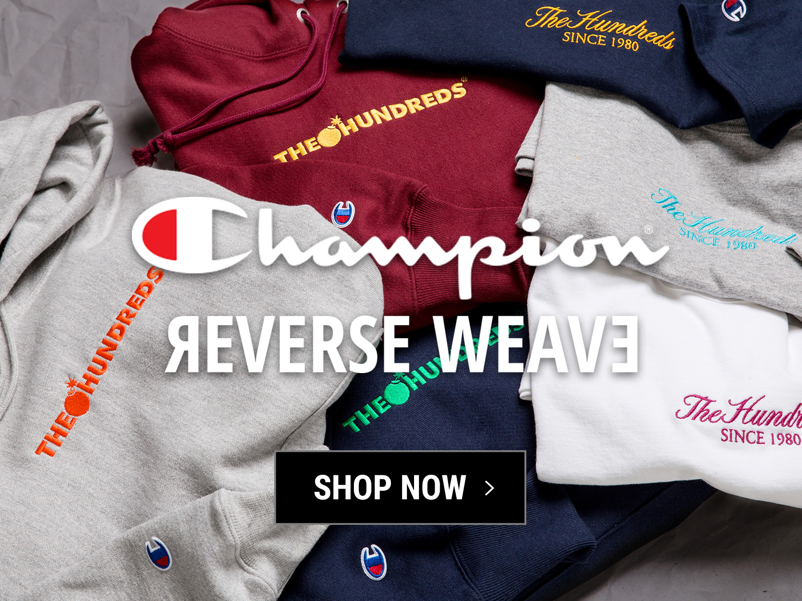 51c41354b987 The Hundreds  Made to Last    New Embroidered Champion Hoodies and T ...