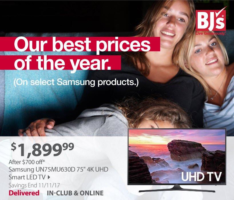 Samsung UN75MU630D 75' 4K UHD Smart LED TV