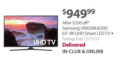 Samsung UN65MU630D 65' 4K UHD Smart LED TV