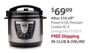 Power 6-Qt. Pressure Cooker XL