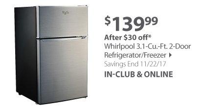 Whirlpool 3.1-Cu.-Ft. 2-Door Refrigerator/Freezer