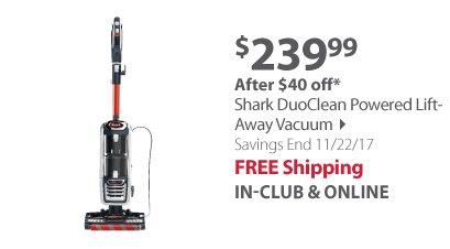 Shark Powered Lift-Away Vacuum with DuoClean Technology