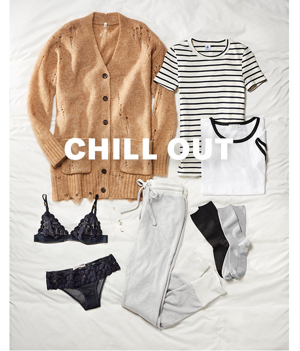 Chill Zone - Kick back in the latest hoodies, joggers, and other down-time essentials.