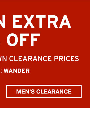 TAKE AN EXTRA 50% OFF CLEARANCE | SHOP MEN'S CLEARANCE