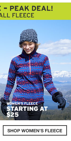 50% OFF ALL FLEECE | SHOP WOMEN'S FLEECE