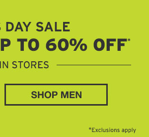 EVERYTHING UP TO 60% OFF | SHOP MEN