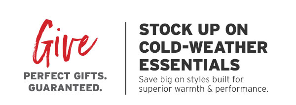 STOCK UP ON COLD-WEATHER ESSENTIALS | SHOP NOW