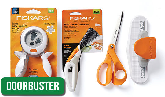 Fiskars Sewing, Quilting and Papercrafting Cutting Tools and Punches.