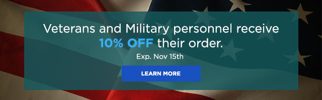 Veterans and Military personal receive 10% off their order.
