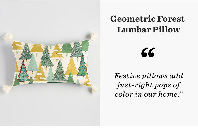 Geometric Forest Lumbar Pillow ›
