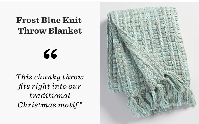 Frost Blue Knit Throw Blanket ›