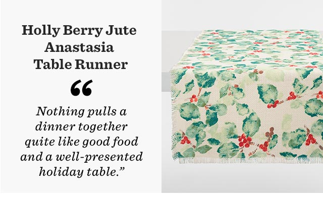 Holly Berry Jute Anastasia Table Runner ›