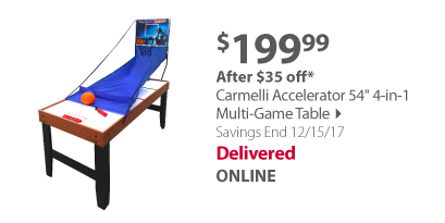 "Carmelli Accelerator 54"" 4-in-1 Multi-Game Table"