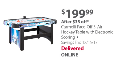 Carmelli Face-Off 5' Air Hockey Table with Electronic Scoring