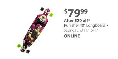 """Punisher 40"""" Longboard - Zombie"""
