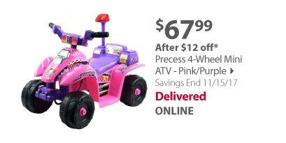 Precess 4-Wheel Mini ATV - Pink/Purple