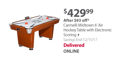 Carmelli Midtown 6' Air Hockey Table with Electronic Scoring