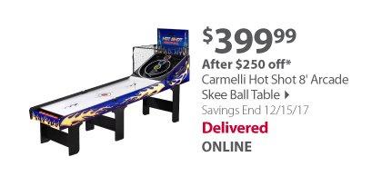 Carmelli Hot Shot 8' Arcade Skee Ball Table