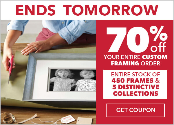 70% off Your Entire Custom Framing Order.