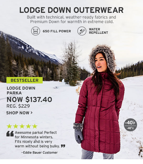 LODGE DOWN OUTERWEAR | SHOP WOMEN'S OUTERWEAR