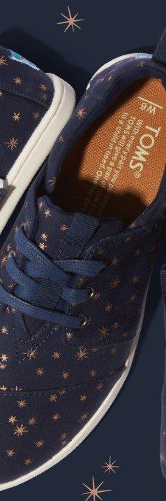 Navy Light Burst Women's Del Rey Sneakers