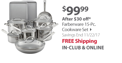 Farberware Stainless Steel 15-Pc. Cookware Set