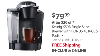 Keurig K50B Single-Serve Coffee Maker - Black