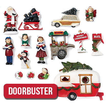 Maker's Holiday Littles Miniature Decor Collection.