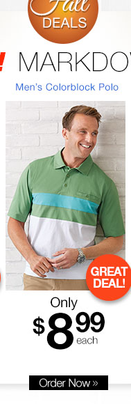 Men's Colorblock Polo