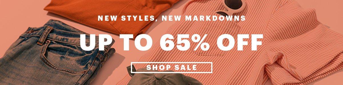 65% OFF SALE