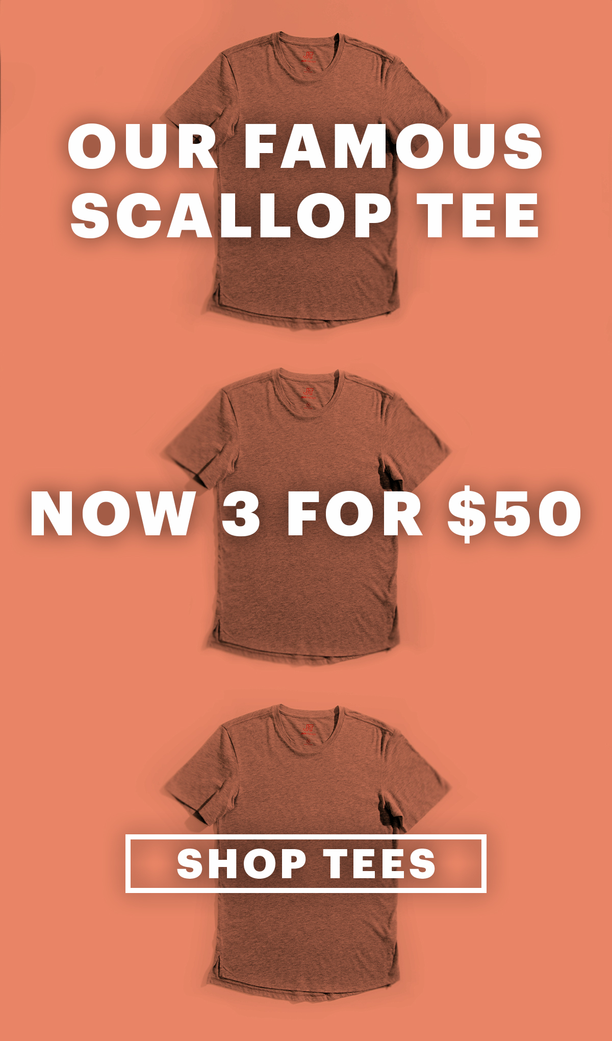 3 For $50 Scallop Tees