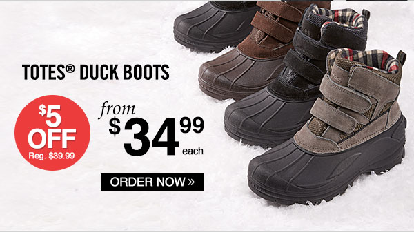 Totes® Winter-Ready Duck Boots