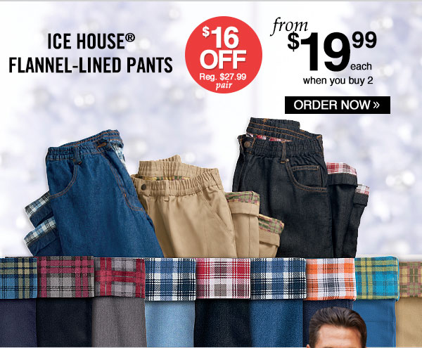 Ice House® Flannel-Lined Pants