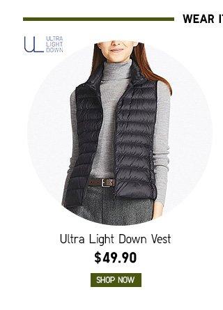 Women Ultra Light Down Vest $49.90 - Shop Now