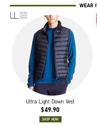 Men Ultra Light Down Vest $49.90 - Shop Now