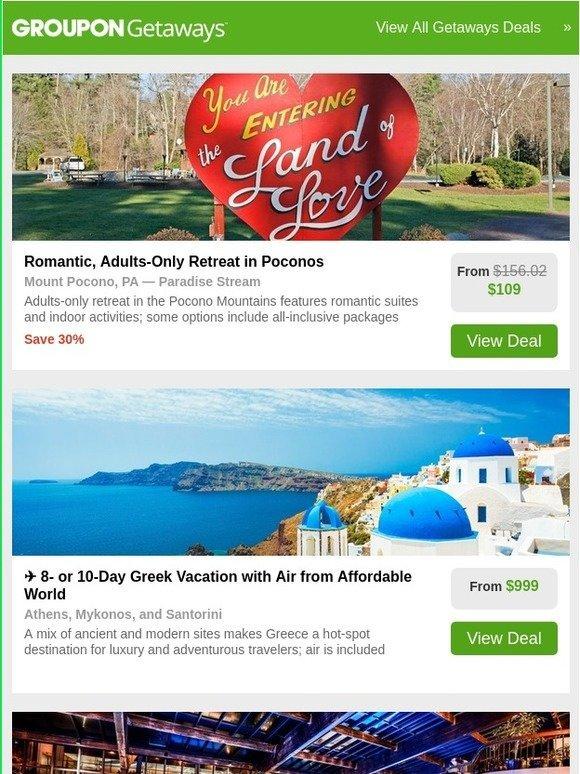 Groupon: Poconos   Greece   4-Star New Jersey Resort   Atlantic City