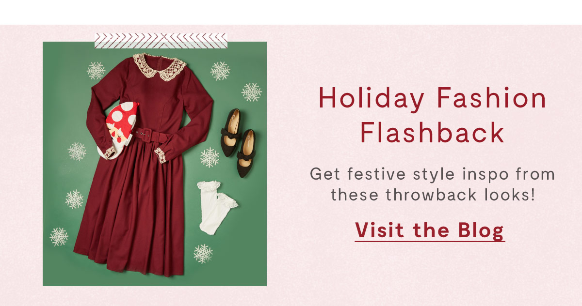 Holiday fashion flashback is on the blog