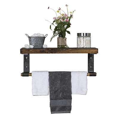 Industrial Grace Tiered Shelf and Towel Rack