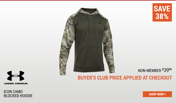 Under Armour Icon Camo Blocked Hoodie