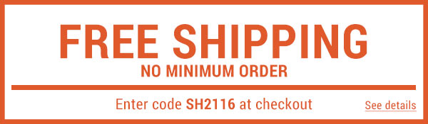 Sportsman's Guide's Free Standard Shipping – No Minimum! Enter coupon code SH2116 at check-out. *Exclusions apply, see details.