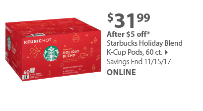Starbucks Holiday Blend K-Cup Pods