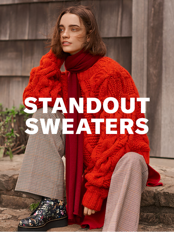 Say hello to your new favorite knits: oversized, deconstructed, and totally unexpected.