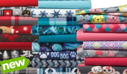 NEW Entire Stock Blizzard, Anti-Pill and Luxe Fleece Solids and Prints.