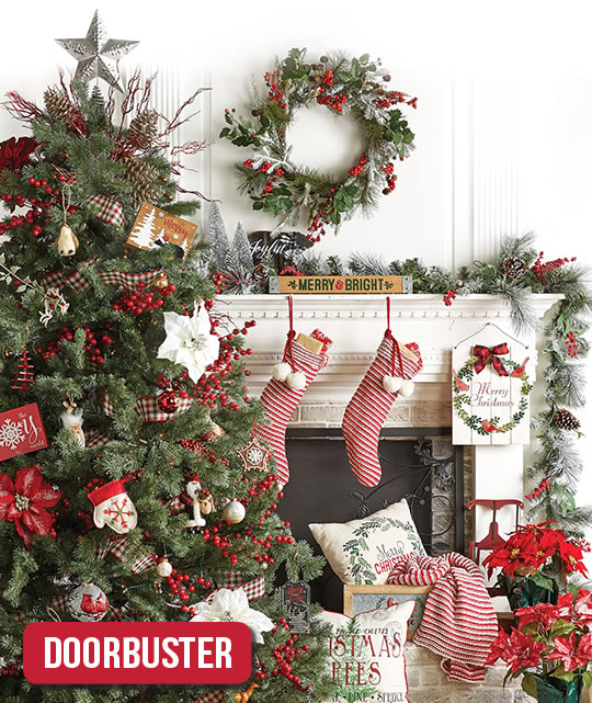 Holiday Decor, Trim-A-Tree and Floral.