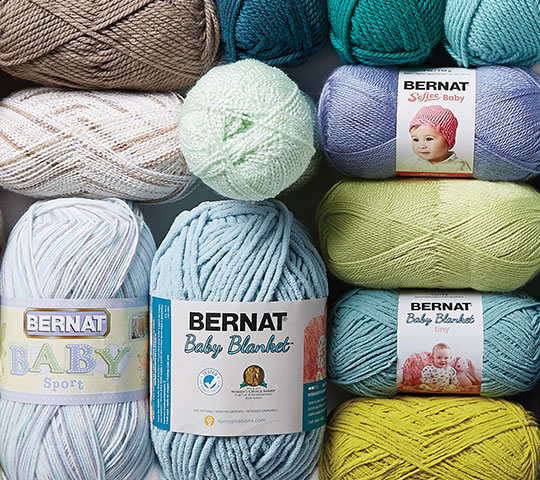 Bernat and Baby Yarns.
