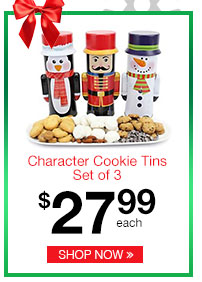 Character Cookie Tins Set of 3