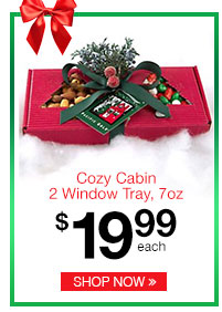 Cozy Cabin 2 Window Tray, 7oz